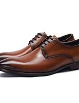 abordables -Homme Chaussures de confort Cuir Automne hiver Oxfords Noir / Marron / Café