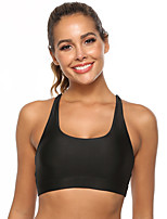 cheap -Women's Sports Bra Fashion Black Purple Burgundy Running Fitness Gym Workout Bra Top Sleeveless Sport Activewear Breathable High Impact Comfortable Stretchy