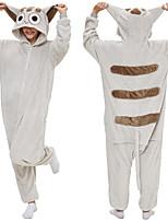 abordables -Adulte Pyjamas Kigurumi Ours Combinaison de Pyjamas Flanelle Blanche Cosplay Pour Homme et Femme Pyjamas Animale Dessin animé Fête / Célébration Les costumes / Collant / Combinaison