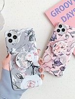 cheap -Case For Apple iPhone 11 / iPhone 11 Pro / iPhone 11 Pro Max with Stand / IMD / Frosted Back Cover Flower TPU