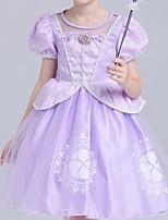 cheap -Kids Girls' Geometric Dress Purple