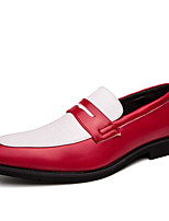 cheap -Men's Comfort Shoes PU Fall & Winter Loafers & Slip-Ons Color Block White / Yellow / Blue