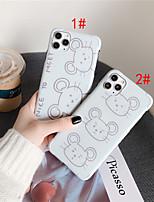 abordables -cas pour apple iphone 11 / iphone 11 pro / iphone 11 pro max antichoc / imd / motif couverture arrière dessin animé tpu pour iphone x xs xr xs max 8 8plus 7 7plus 6 6plus 6s 6s plus