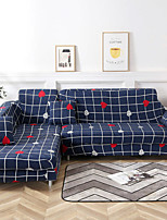 cheap -Heart Grid Print Dustproof All-powerful Slipcovers Stretch Sofa Cover Super Soft Fabric Couch Cover with One Free Pillow Case