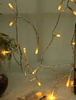 cheap -1m String Lights 10 LEDs Warm White Decorative 5 V 1 set