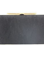 cheap -Women's Chain Satin Evening Bag Solid Color Black / Almond / Silver