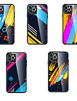 cheap -Case for Apple scene map iPhone 11 X XS XR XS Max 8 Colorful pattern glass back panel TPU frame 2-in-1 all-inclusive mobile phone case