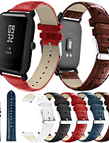 cheap -Smartwatch Band for Huami Amazfit Bip Younth / Bip Lite / GTR 42mm / GTS / Bip Amazfit sport Band High-end Fashion comfortable Leather Loop Genuine Leather Wrist Strap 20mm