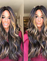 abordables -Perruque Synthétique Bouclé Coupe Asymétrique Perruque Long Noir Cheveux Synthétiques 27 pouce Femme Meilleure qualité Noir