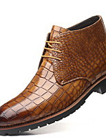 cheap -Men's Comfort Shoes PU Fall & Winter Oxfords Black / Light Brown / Yellow