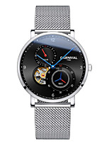 cheap -Carnival Men's Mechanical Watch Automatic self-winding woven Stainless Steel Black / Silver 30 m Water Resistant / Waterproof Hollow Engraving Analog Luxury Casual - Black Black / Blue Silver+Blue