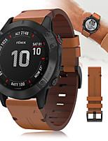 abordables -Bracelet de montre en cuir de luxe de 22 mm pour Garmin Fenix 6 Pro / Fenix 5 Plus / Forerunner 935/945 / Approach S60 / Quatix 5 Sapphire Quick Fit Release Bracelet Bracelet dragonne bracelet