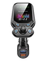 abordables -émetteur fm bluetooth 5.0 kit voiture appel mains libres aux stéréo qc3.0 double usb charge rapide prise en charge tf carte u lecture de disque