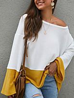 cheap -Women's Daily T-shirt - Color Block Yellow