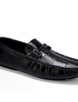 cheap -Men's Moccasin Microfiber Fall & Winter Loafers & Slip-Ons Black / Brown / White