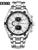 cheap -CURREN Men's Steel Band Watches Quartz Formal Style Stylish 30 m Water Resistant / Waterproof Casual Watch Cool Analog Luxury Outdoor - Black Black / White Gold / White
