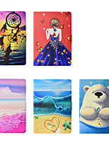 cheap -Case For Samsung Galaxy Galaxy S3 T820 9.7 Card Holder / Shockproof Full Body Cases Scenery / Cartoon TPU