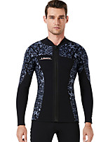 cheap -Dive&Sail Men's Wetsuit Jacket 1.5mm CR Neoprene Diving Suit Anatomic Design Long Sleeve Back Zip Patchwork Autumn / Fall Spring Winter / High Elasticity