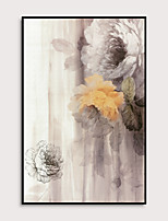 cheap -Framed Art Print Framed Set - Floral / Botanical PS Oil Painting Wall Art