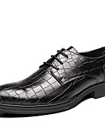 cheap -Men's Formal Shoes Synthetics Spring & Summer / Fall & Winter Classic / Casual Oxfords Wear Proof Black / Brown