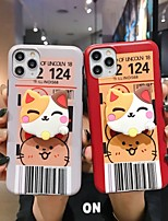 cheap -Case For Apple iPhone 11 / iPhone 11 Pro / iPhone 11 Pro Max with Stand / Ultra-thin / Pattern Back Cover Cat / Cartoon TPU