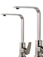 cheap -Kitchen faucet - Single Handle One Hole Electroplated Standard Spout Centerset Contemporary Kitchen Taps
