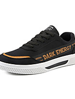 cheap -Men's Comfort Shoes Canvas Fall / Spring & Summer Casual / Preppy Sneakers Walking Shoes Breathable Black / Gold / Black / White / White