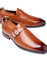cheap -Men's Formal Shoes Leather Spring & Summer / Fall & Winter Business / Casual Loafers & Slip-Ons Breathable Black / Wine / Yellow