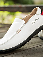 cheap -Men's Comfort Shoes PU Fall & Winter Loafers & Slip-Ons Black / White / Orange