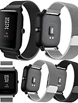 cheap -Smartwatch Band for Amazfit Bip Younth Watch / Amazfit Bip / Bip Lite / GTS /  GTR 42mm Huami Amazfit sport Band Fashion Milanese Loop Stainless Steel Wrist Strap 20mm