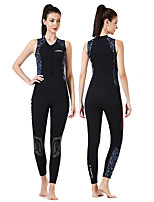 cheap -Dive&Sail Women's Shorty Wetsuit 3mm CR Neoprene Diving Suit Anatomic Design Sleeveless Back Zip Patchwork Autumn / Fall Spring Winter / High Elasticity