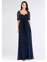 cheap -A-Line Sweetheart Neckline Floor Length Chiffon Elegant Engagement / Formal Evening Dress 2020 with Ruffles / Ruched / Pleats