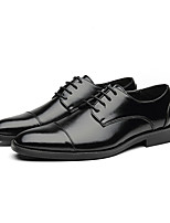 cheap -Men's Formal Shoes Leather Spring & Summer / Fall & Winter Business / Casual Oxfords Breathable Black / Yellow / Red