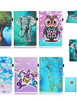 cheap -Case For Apple iPad Air / iPad Mini 3/2/1 / iPad Mini 4 Card Holder / Shockproof Full Body Cases Scenery / Cartoon TPU