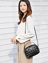 cheap -Women's Chain PU Crossbody Bag Solid Color Black