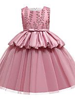 cheap -Toddler Girls' Solid Colored Sleeveless Above Knee Dress Wine