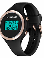 cheap -SYNOKE Kids Digital Watch Digital Sporty Stylish Silicone 30 m Water Resistant / Waterproof Calendar / date / day LCD Digital Outdoor Fashion - Black Pink