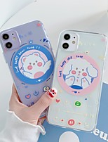 cheap -Funny Music Case For Apple iPhone 11 / iPhone 11 Pro / iPhone 11 Pro Max Ultra-thin / Pattern Back Cover Word / Phrase / Transparent / Cartoon TPU