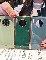 cheap -Case For Huawei Huawei P30 / Huawei P30 Pro / Mate 30 Shockproof / Ultra-thin Back Cover Solid Colored Silica Gel