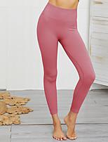 cheap -Women's High Waist Yoga Pants Winter Solid Color Dark Grey Red Light Purple Green Blue Running Fitness Gym Workout Tights Leggings Sport Activewear Moisture Wicking Butt Lift Tummy Control Power Flex