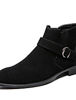 cheap -Men's Fashion Boots Synthetics Spring & Summer / Fall & Winter Casual / British Boots Warm Booties / Ankle Boots Black