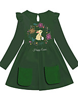 cheap -Kids Girls' Animal Dress Green