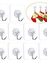 abordables -crochets adhésifs cintres muraux sans clous robustes 15lbs (max) 180 degrés rotatifs sans couture crochets à gratter pour accrocher salle de bain cuisine bureau-6 packs