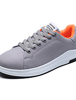 cheap -Men's Comfort Shoes Canvas Fall / Spring & Summer Casual / Preppy Sneakers Walking Shoes Breathable Black / Gray