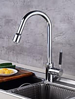 cheap -Kitchen faucet - Single Handle One Hole Electroplated Standard Spout / Tall / High Arc Centerset Contemporary Kitchen Taps