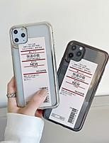 cheap -Case For Apple iPhone 11 / iPhone 11 Pro / iPhone 11 Pro Max Shockproof / Ultra-thin / Transparent Back Cover / Bumper Word / Phrase / Transparent TPU / PC