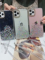 cheap -Case For Apple iPhone 11 / iPhone 11 Pro / iPhone 11 Pro Max Shockproof / Rhinestone / Glitter Shine Back Cover Transparent / Glitter Shine Acrylic / PC