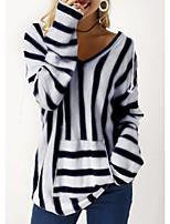 cheap -Women's Casual Hoodie - Striped Black S