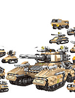 cheap -Building Blocks 1048 pcs Military compatible Legoing Simulation Military Vehicle All Toy Gift / Kid's