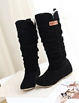 cheap -Women's Boots Flat Heel Round Toe Synthetics Mid-Calf Boots Fall & Winter Black / Brown / Coffee
